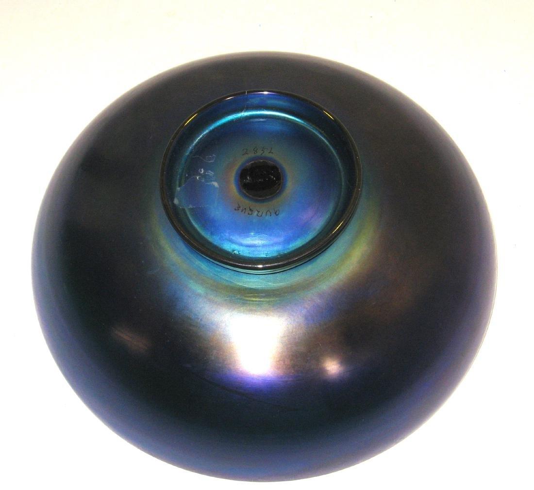 Steuben blue Aurene bowl - 3