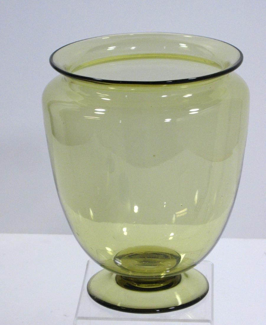 Steuben amber shouldered glass vase.