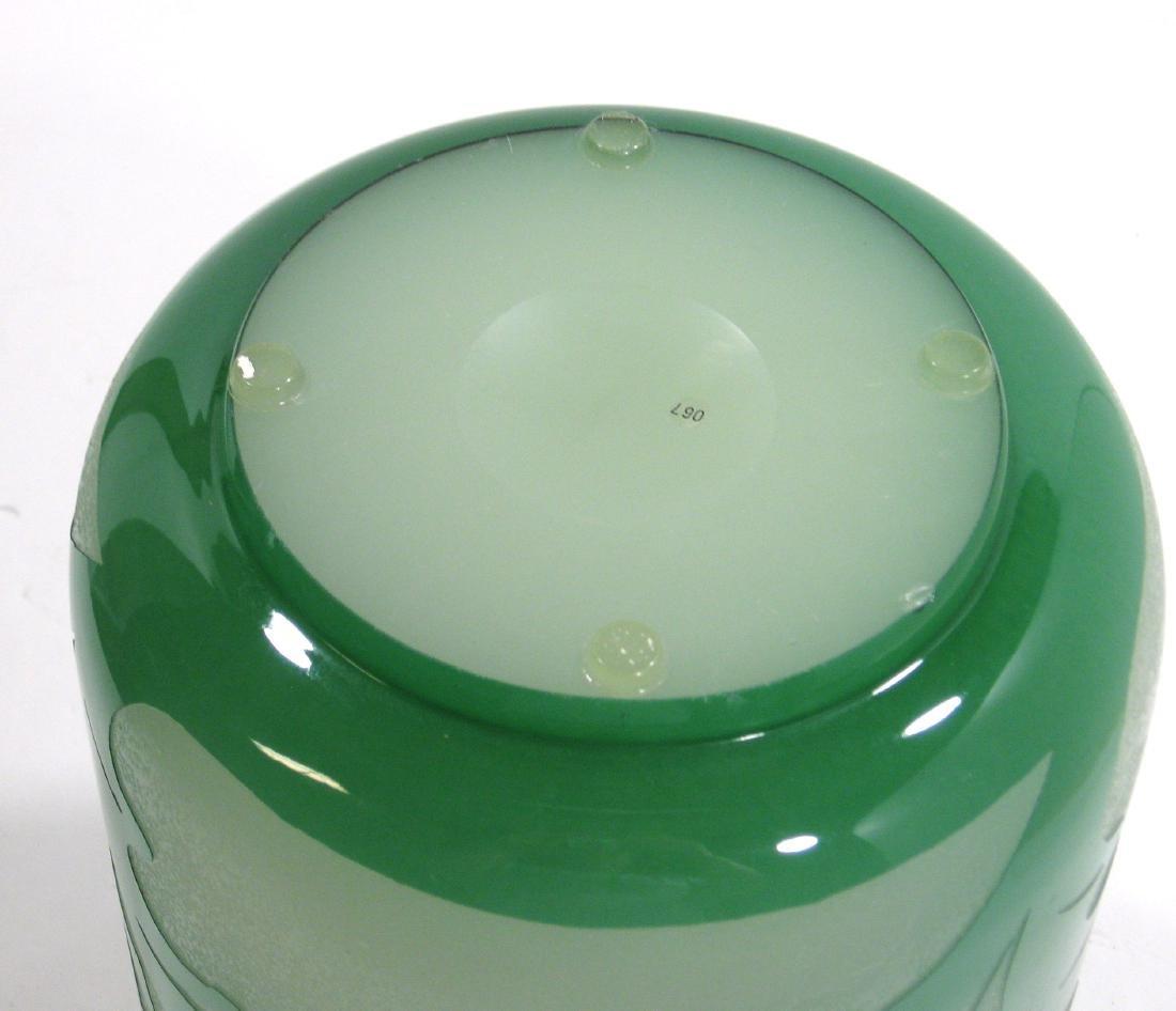 Steuben green Jade ACB glass vase, - 6
