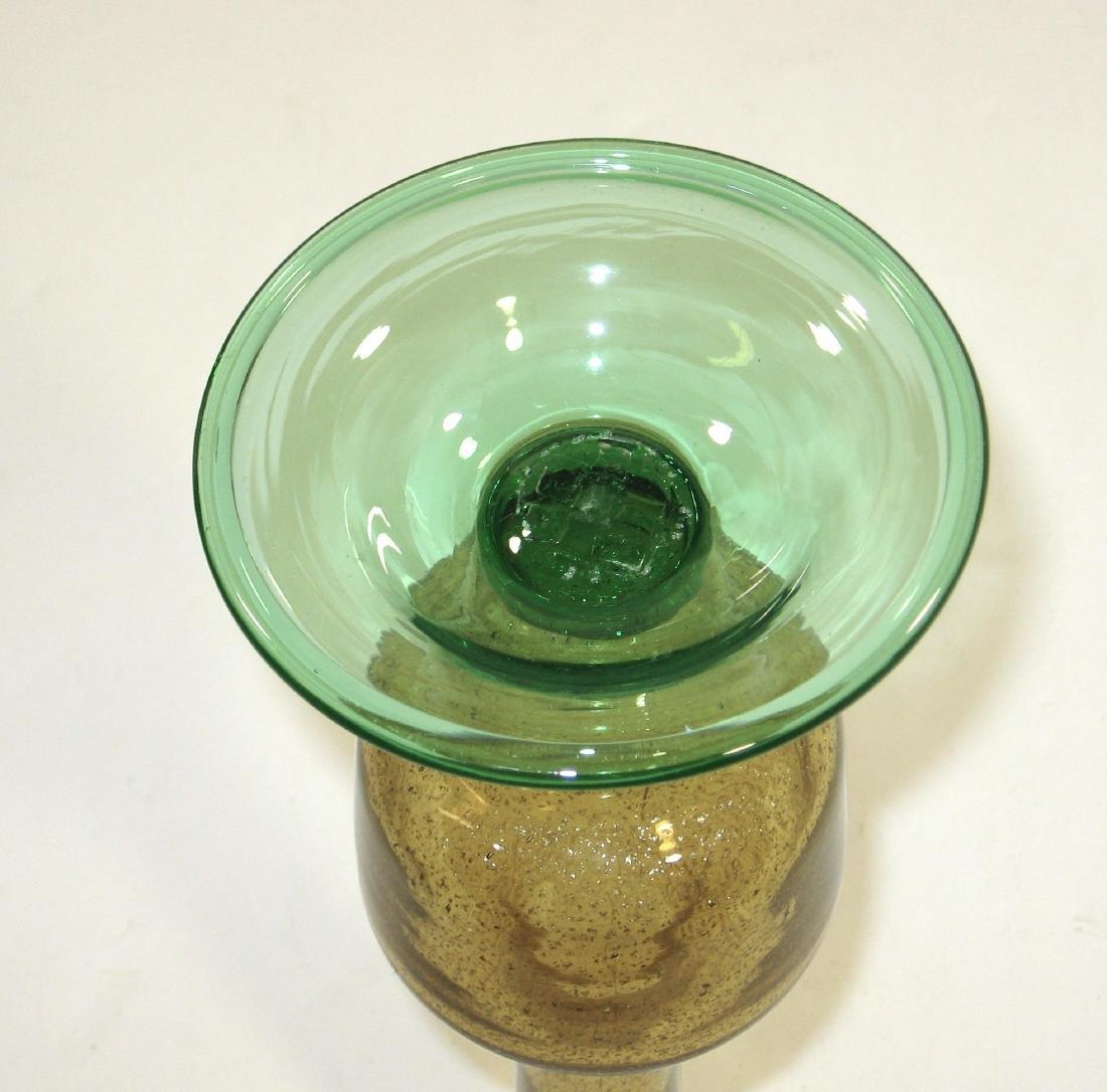 Steuben aventurine glass vase, - 5
