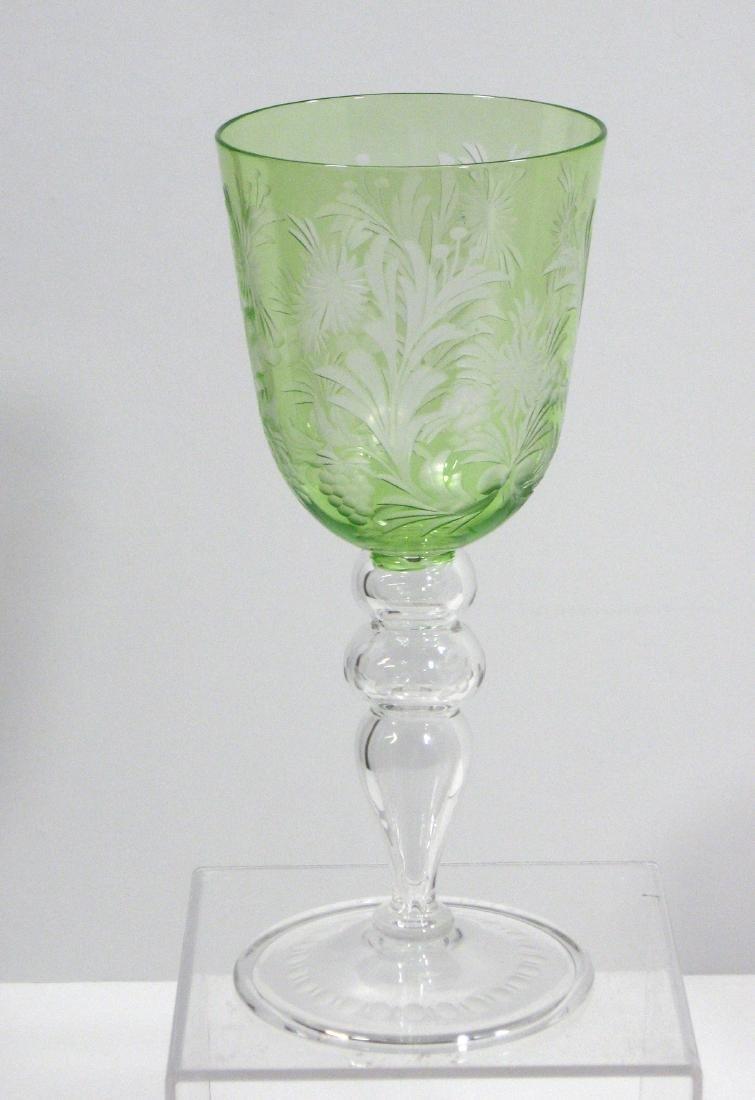 Steuben cut glass goblet