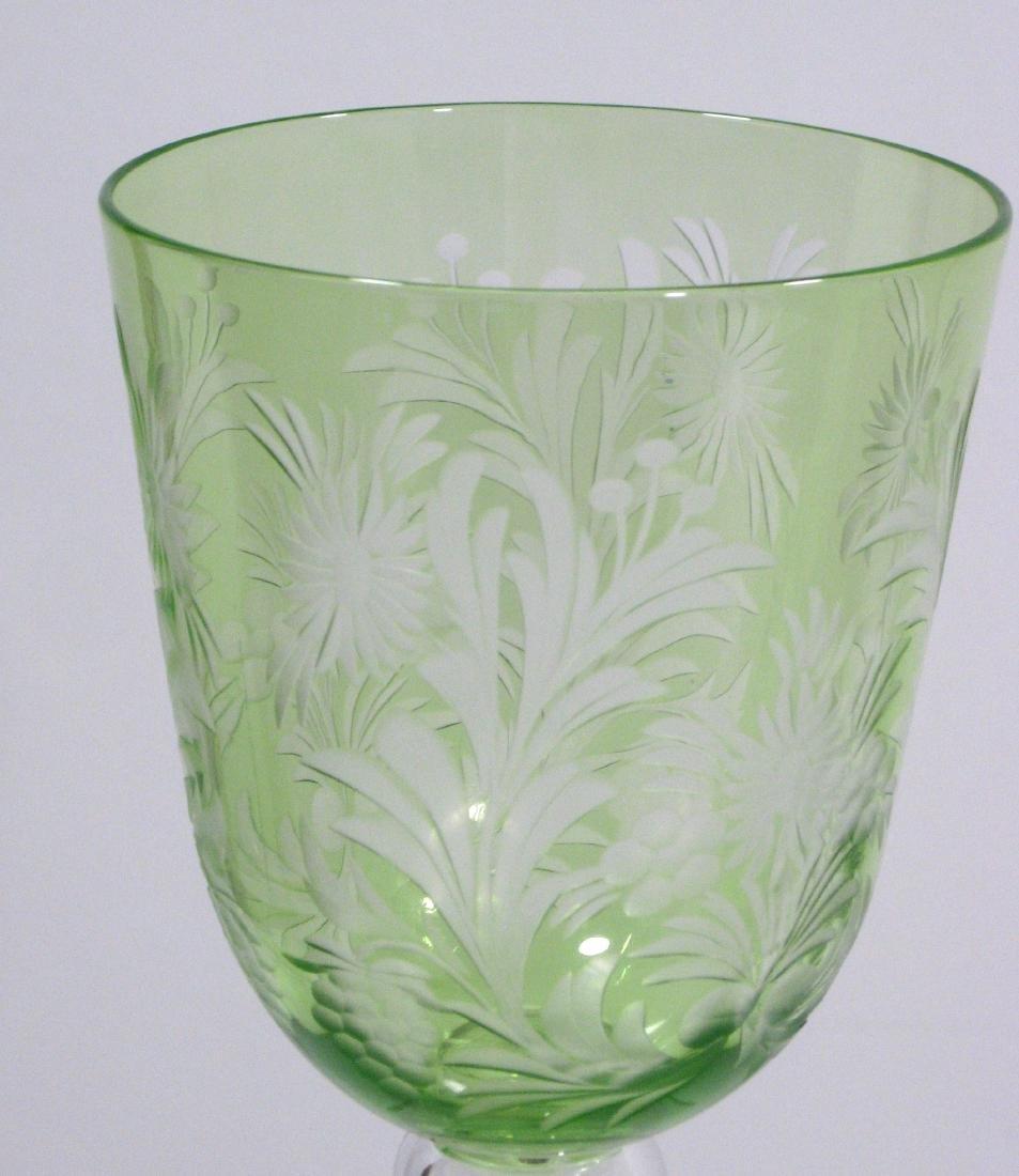 Steuben cut glass goblet - 2