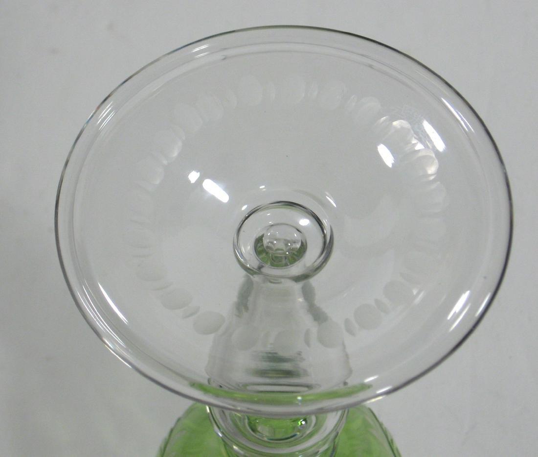 Steuben cut glass goblet - 3