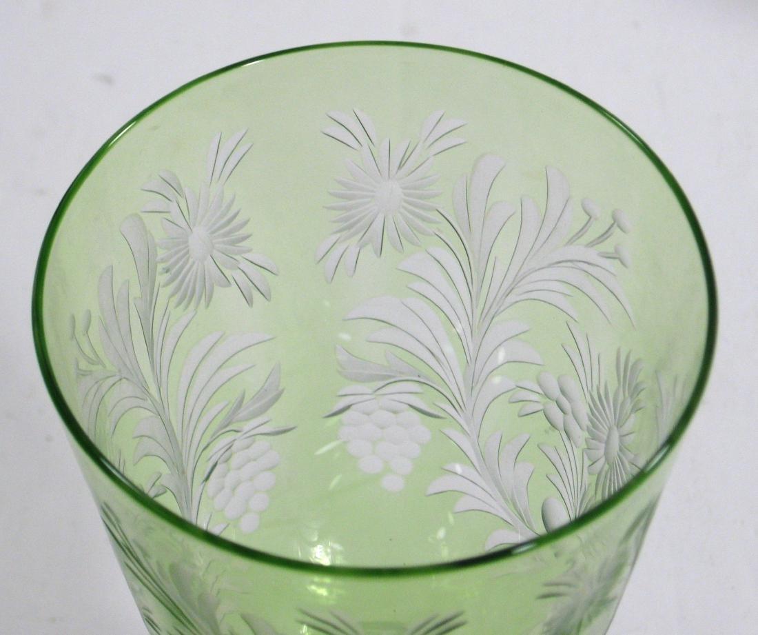 Steuben cut glass goblet - 4