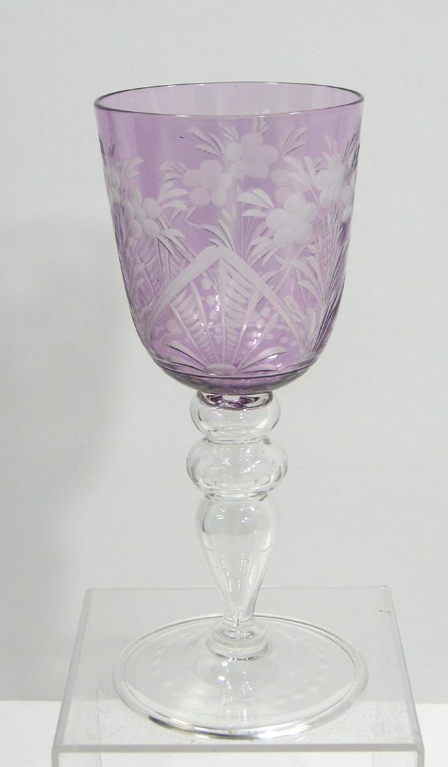 Steuben cut to clear goblet