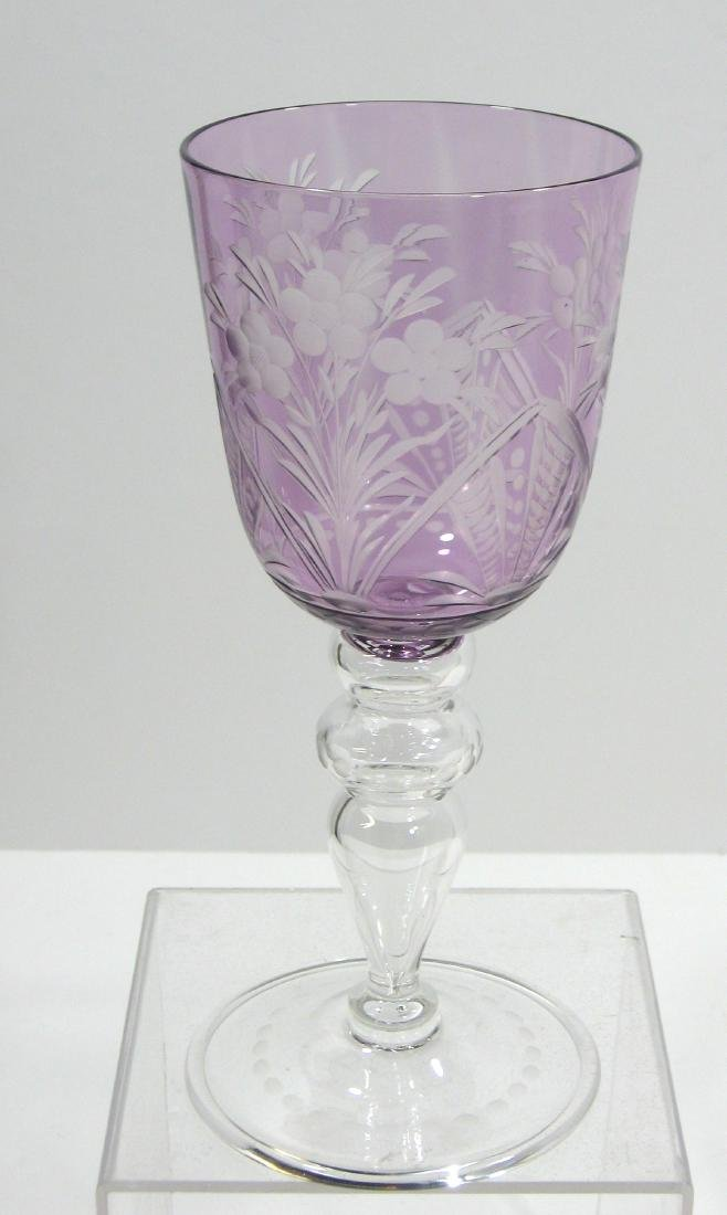 Steuben cut to clear goblet - 2