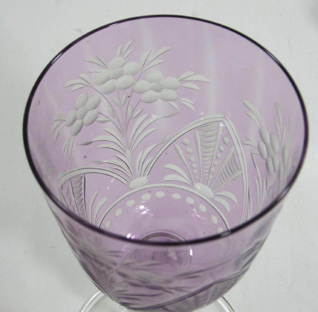 Steuben cut to clear goblet - 4