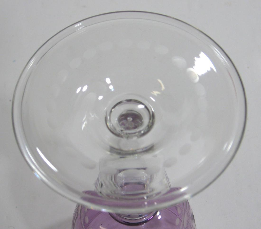 Steuben cut to clear goblet - 5
