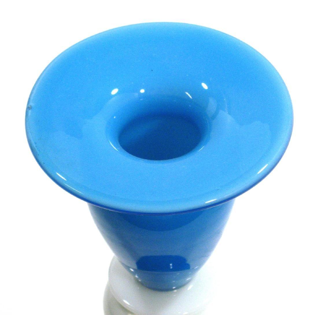Steuben Blue Jade candlestick - 3