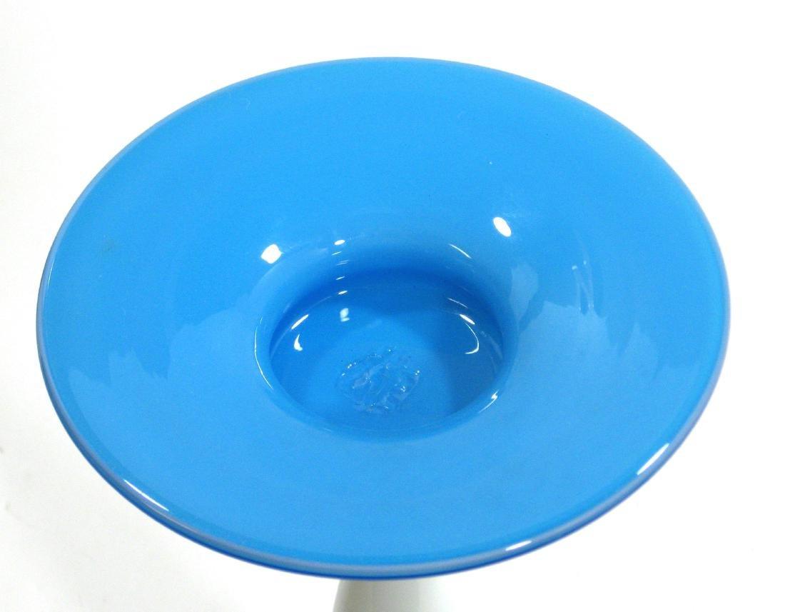 Steuben Blue Jade candlestick - 4