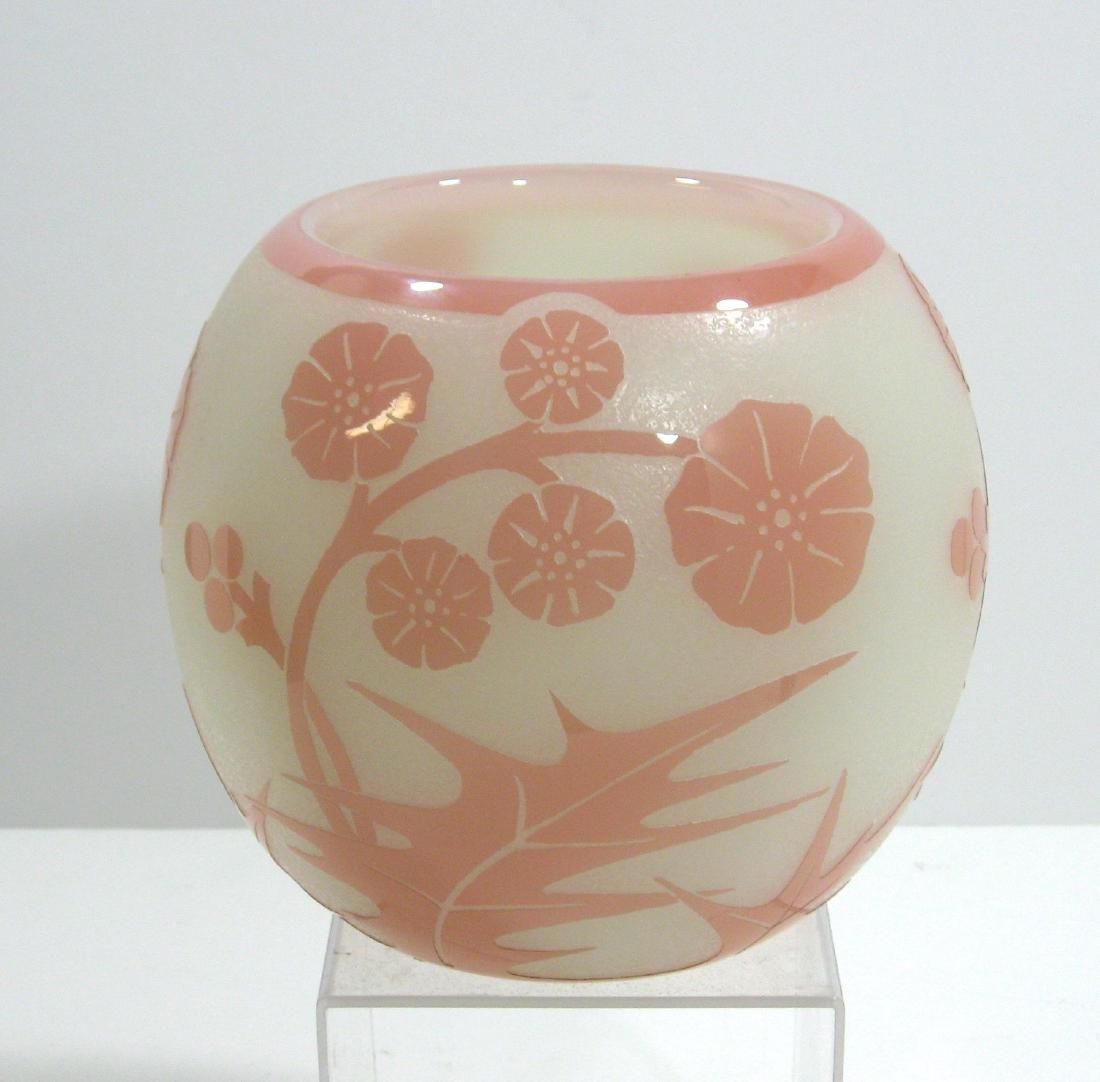 Steuben Rosaline ACB glass vase, - 2