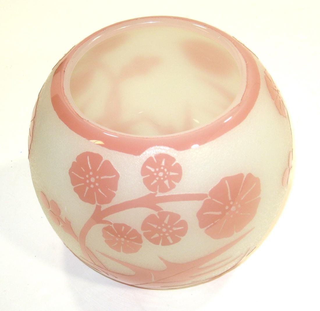 Steuben Rosaline ACB glass vase, - 4