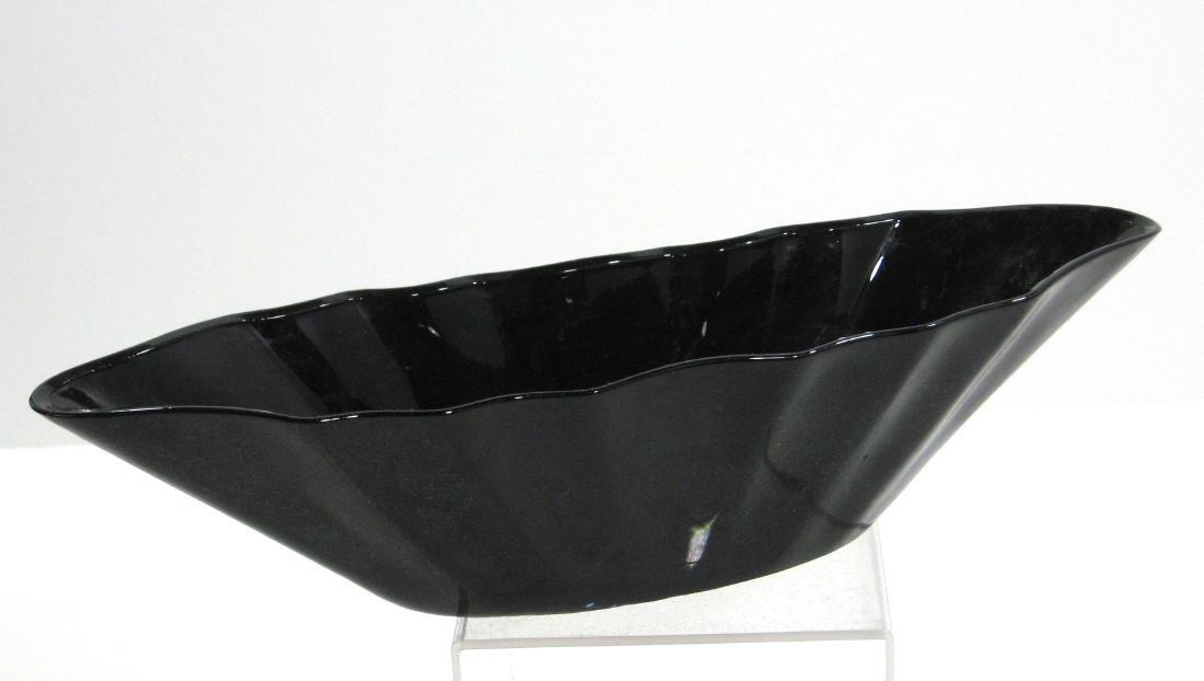 Steuben mirror black Art Deco bowl
