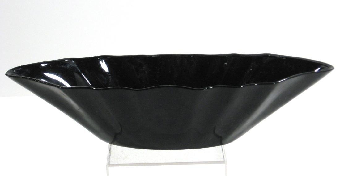 Steuben mirror black Art Deco bowl - 2