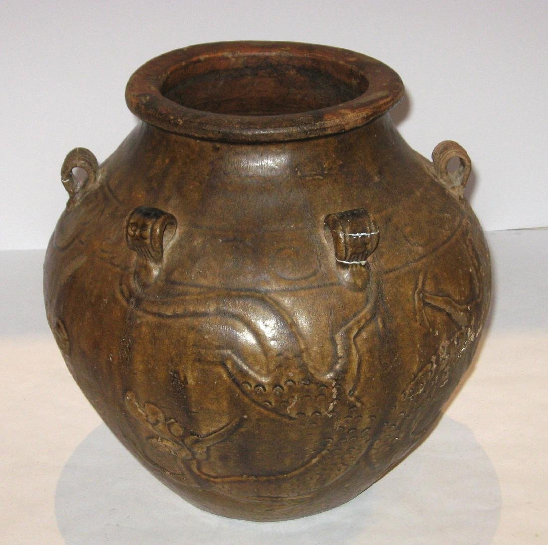 Ancient Chinese pottery vase, - 2