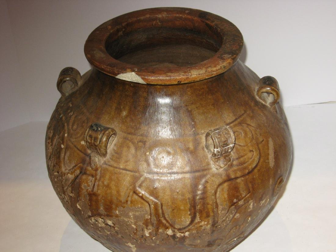 Ancient Chinese pottery vase, - 3