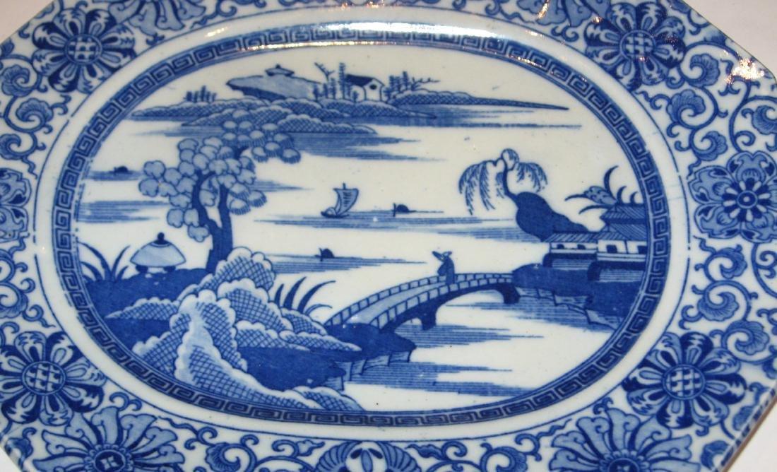 Chinese export china platter, - 3