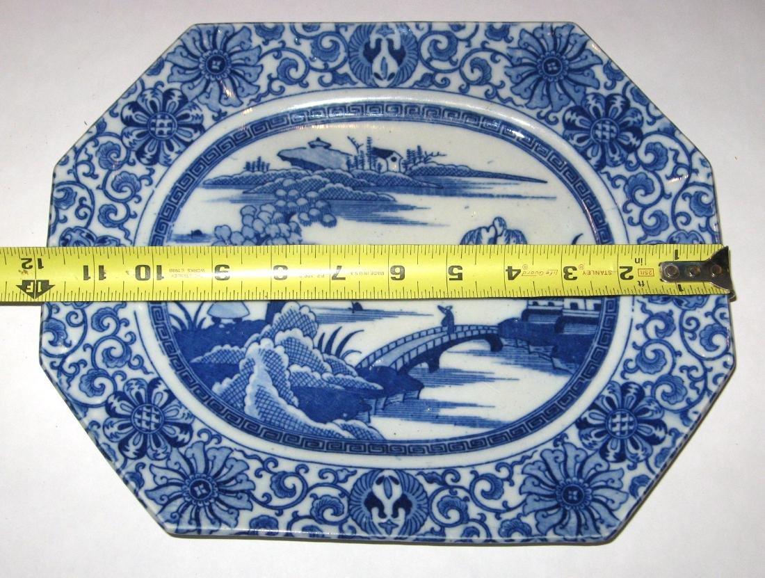 Chinese export china platter, - 4