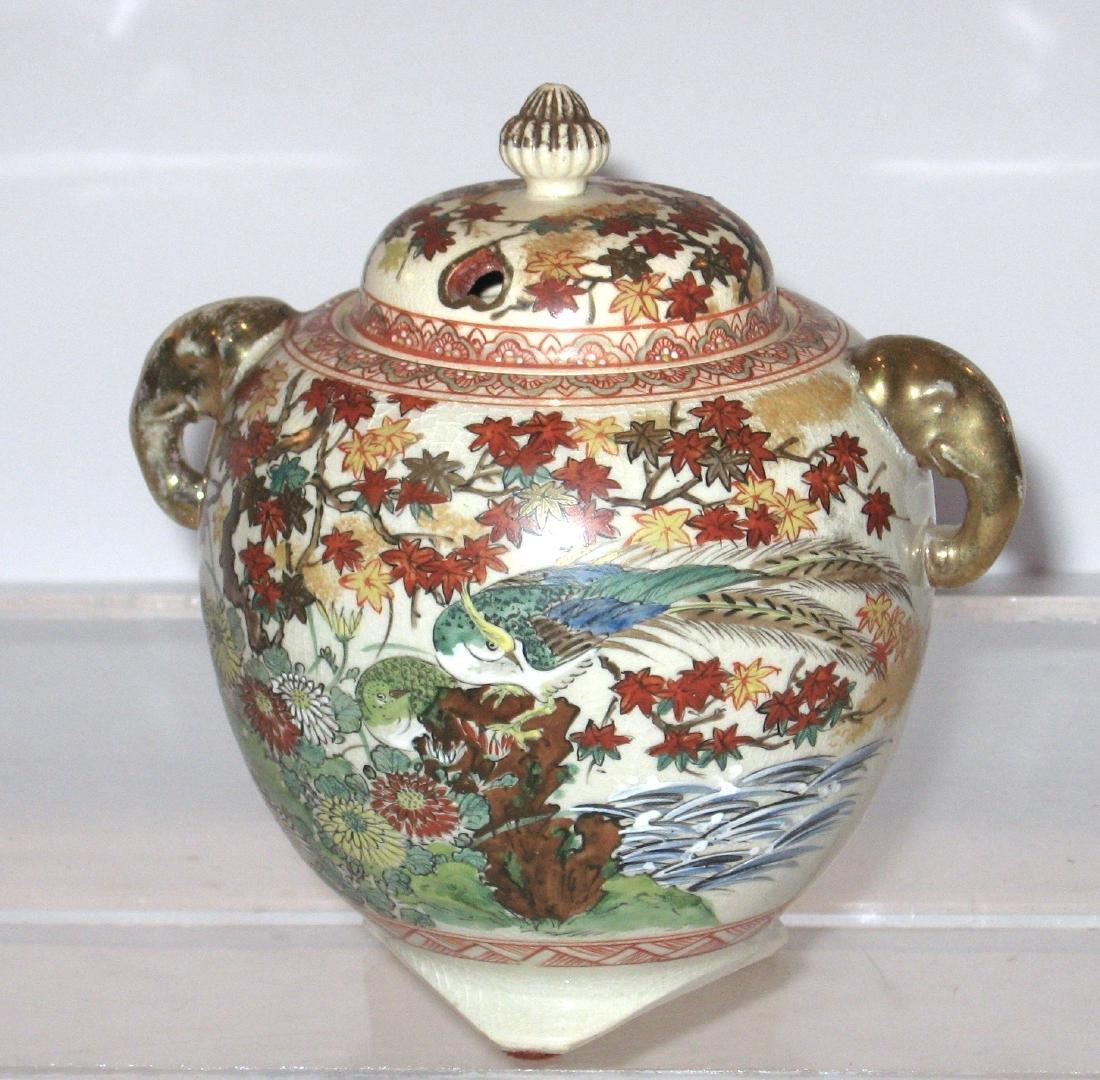 Japanese Satsuma porcelain burner,