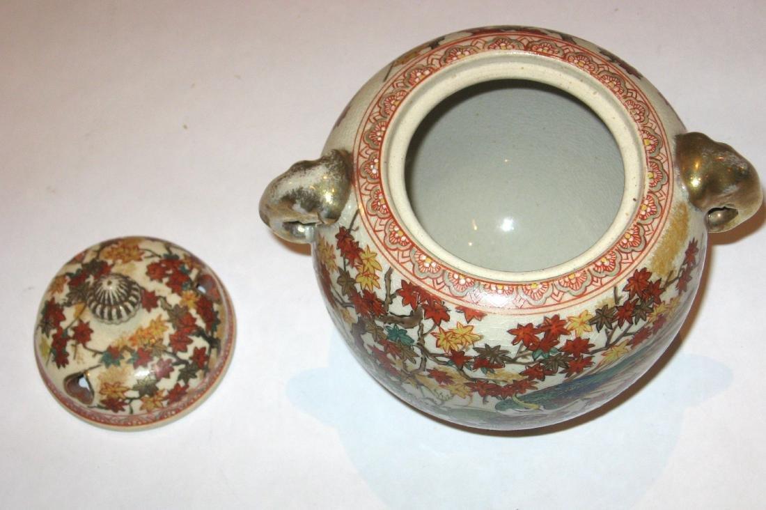Japanese Satsuma porcelain burner, - 2