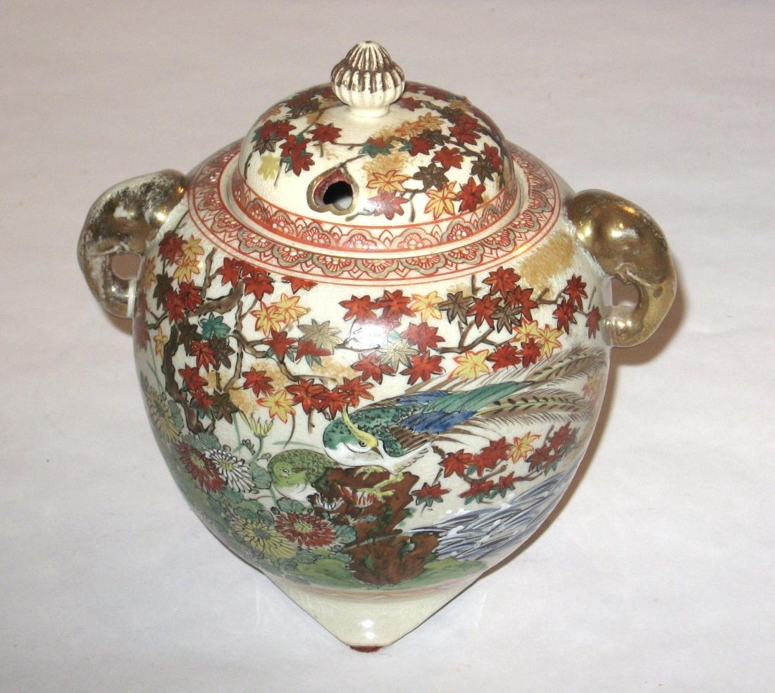 Japanese Satsuma porcelain burner, - 3