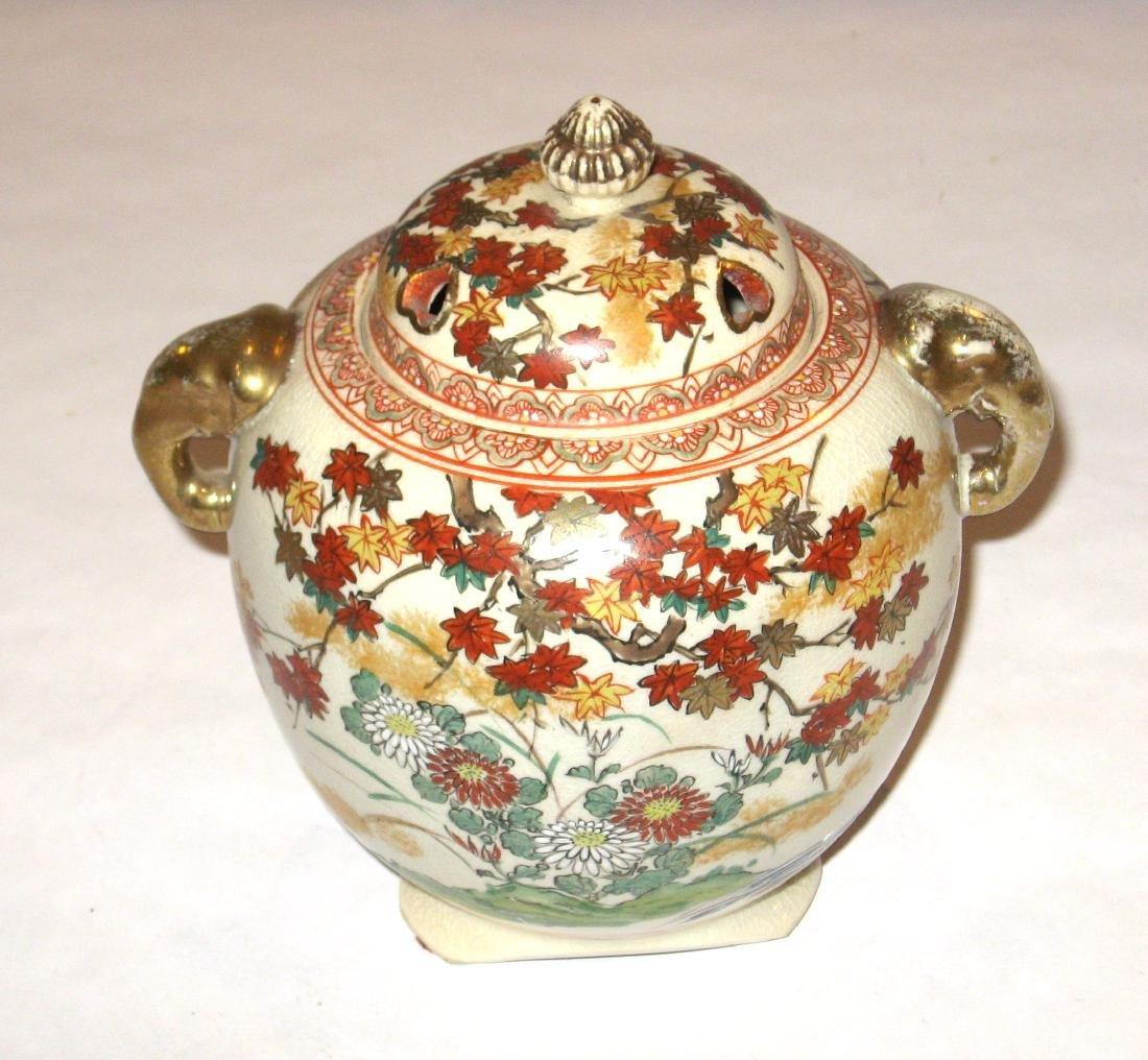 Japanese Satsuma porcelain burner, - 5