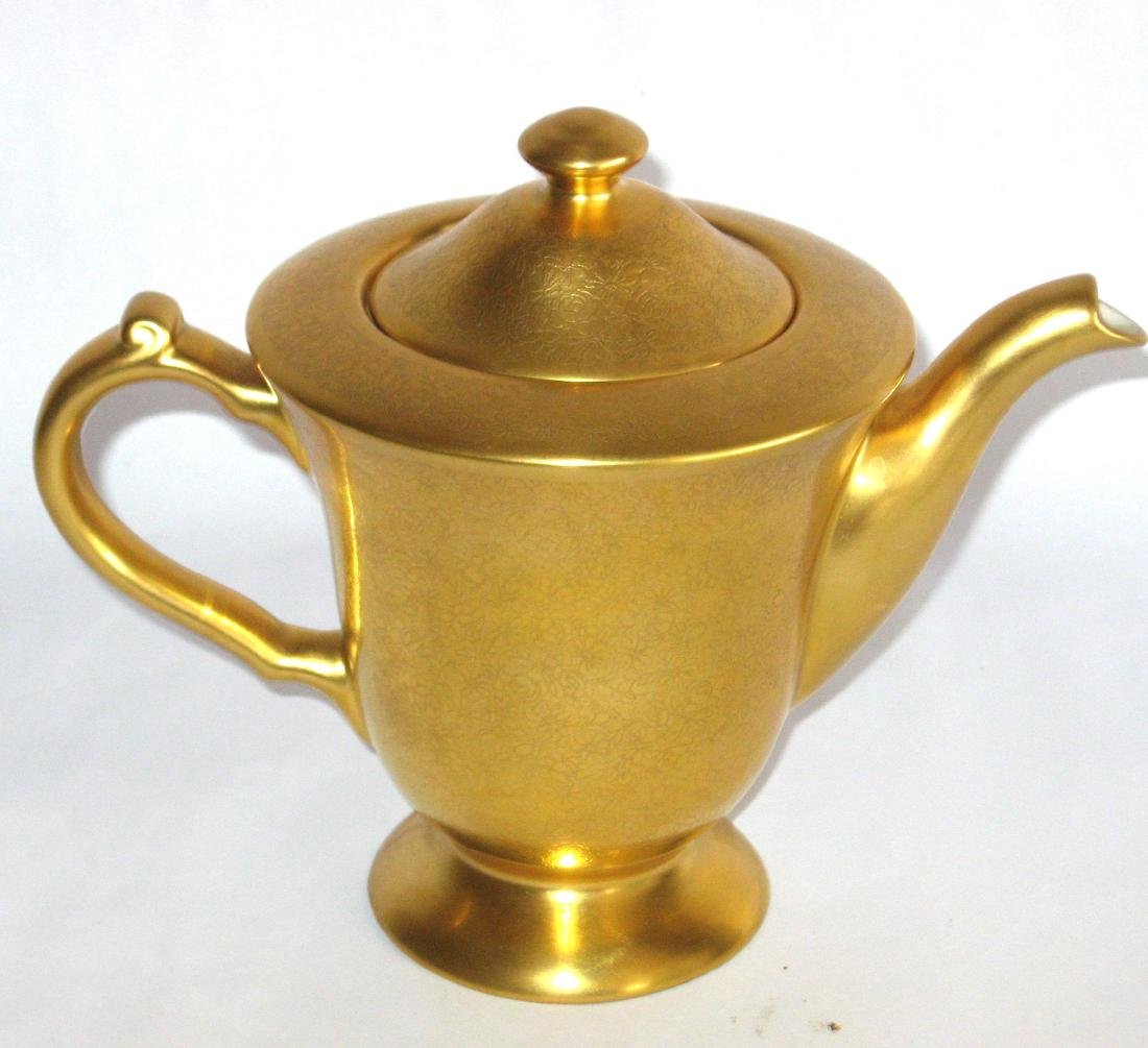 Pickard gold porcelain tea pot