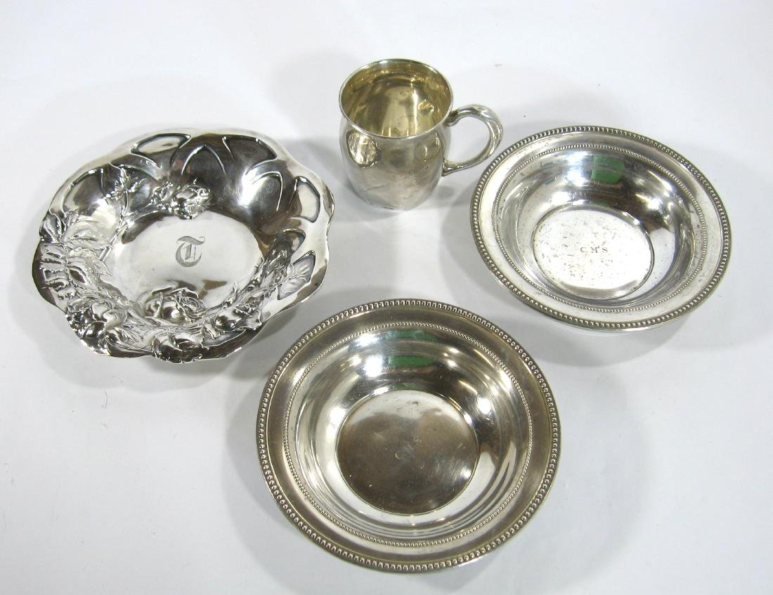 Four piece grouping of Sterling Silver