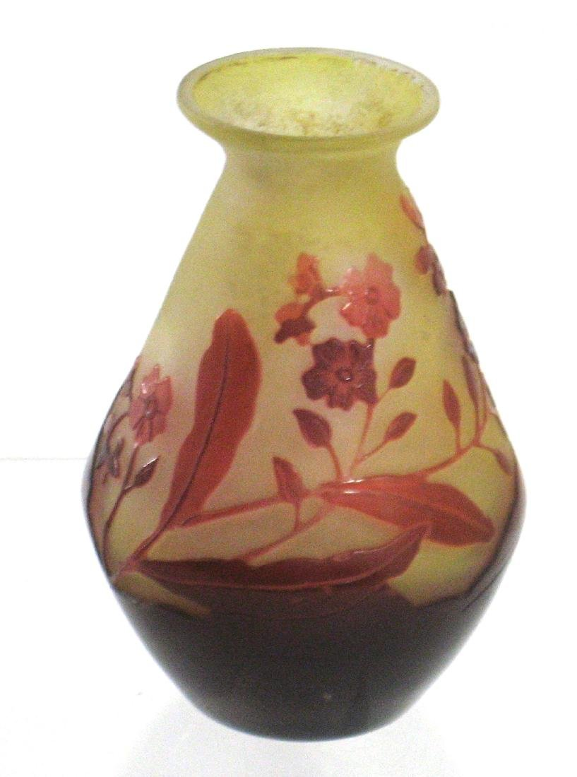 Galle red glass cabinet vase
