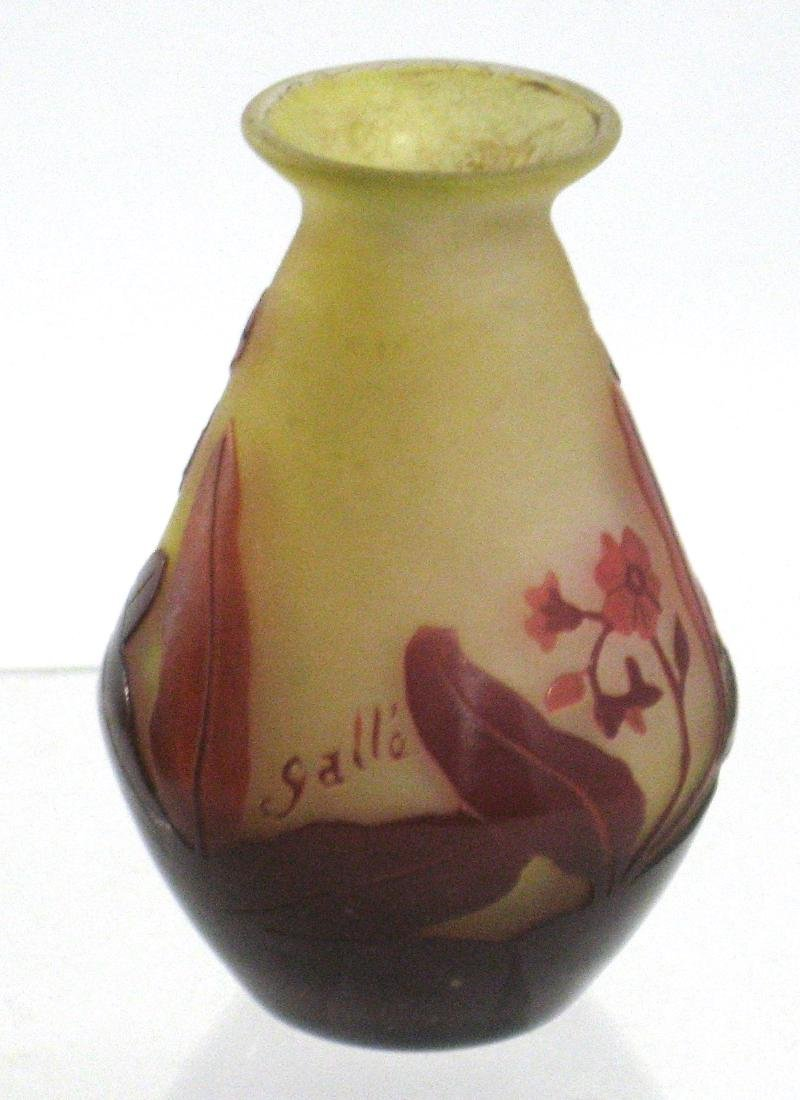 Galle red glass cabinet vase - 3