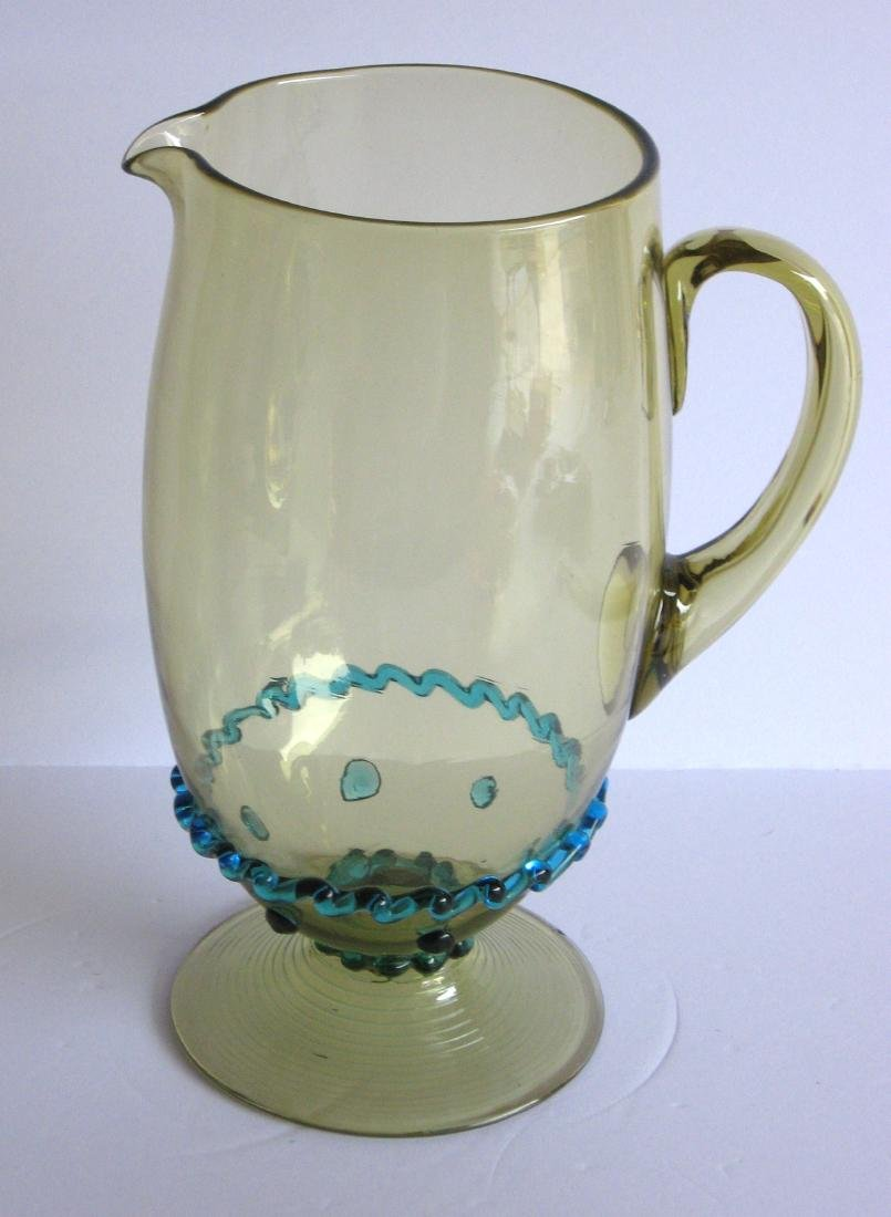 Steuben rigaree glass water pitcher - 2