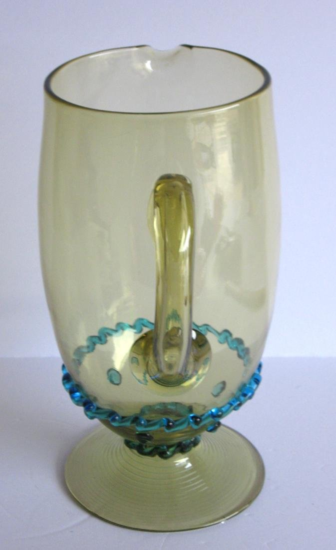 Steuben rigaree glass water pitcher - 3