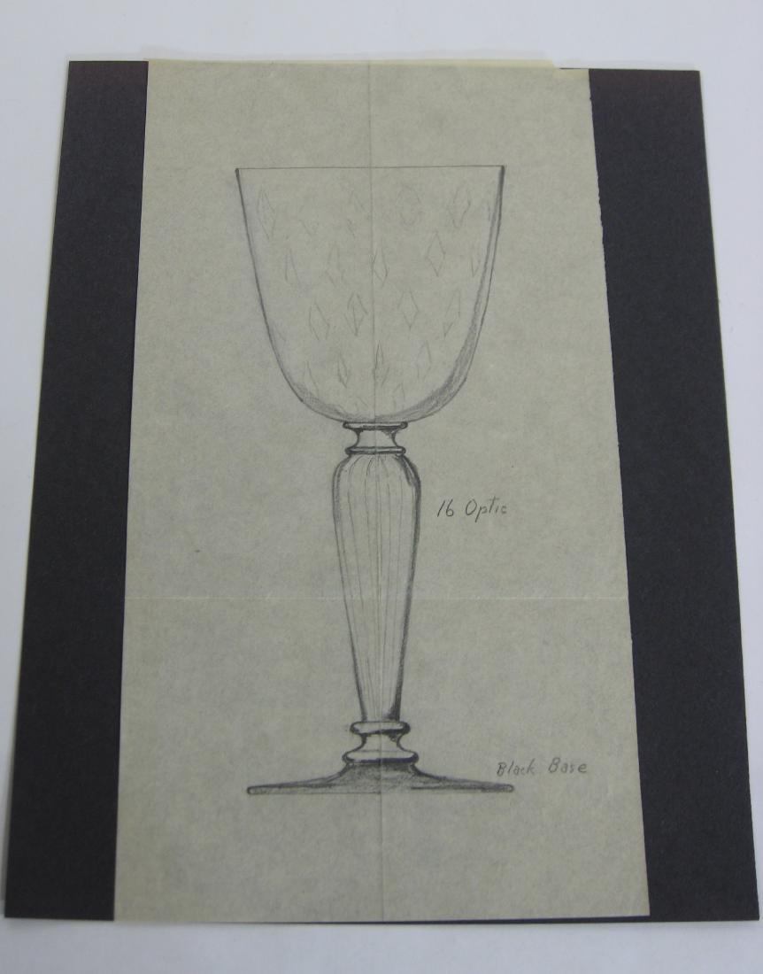 Original Steuben line drawing