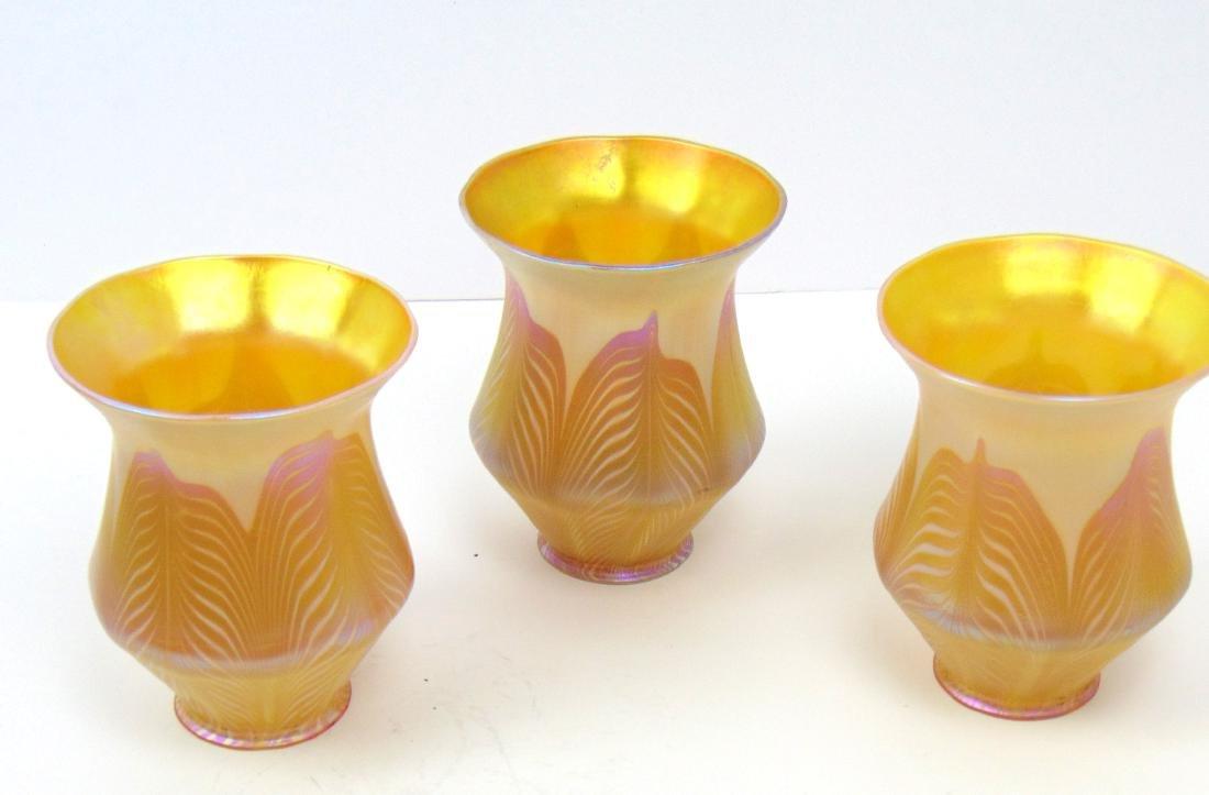 3 Quezal art glass shades - 4