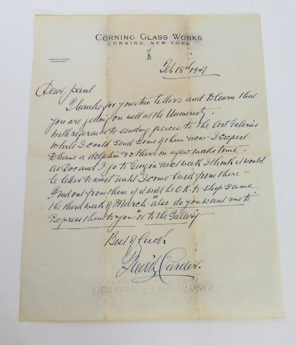 Original Carder letter to Paul Gardner
