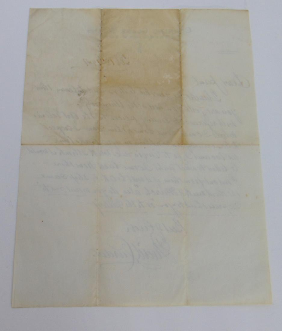 Original Carder letter to Paul Gardner - 2