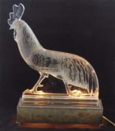 R. Lalique figural glass Luminaire