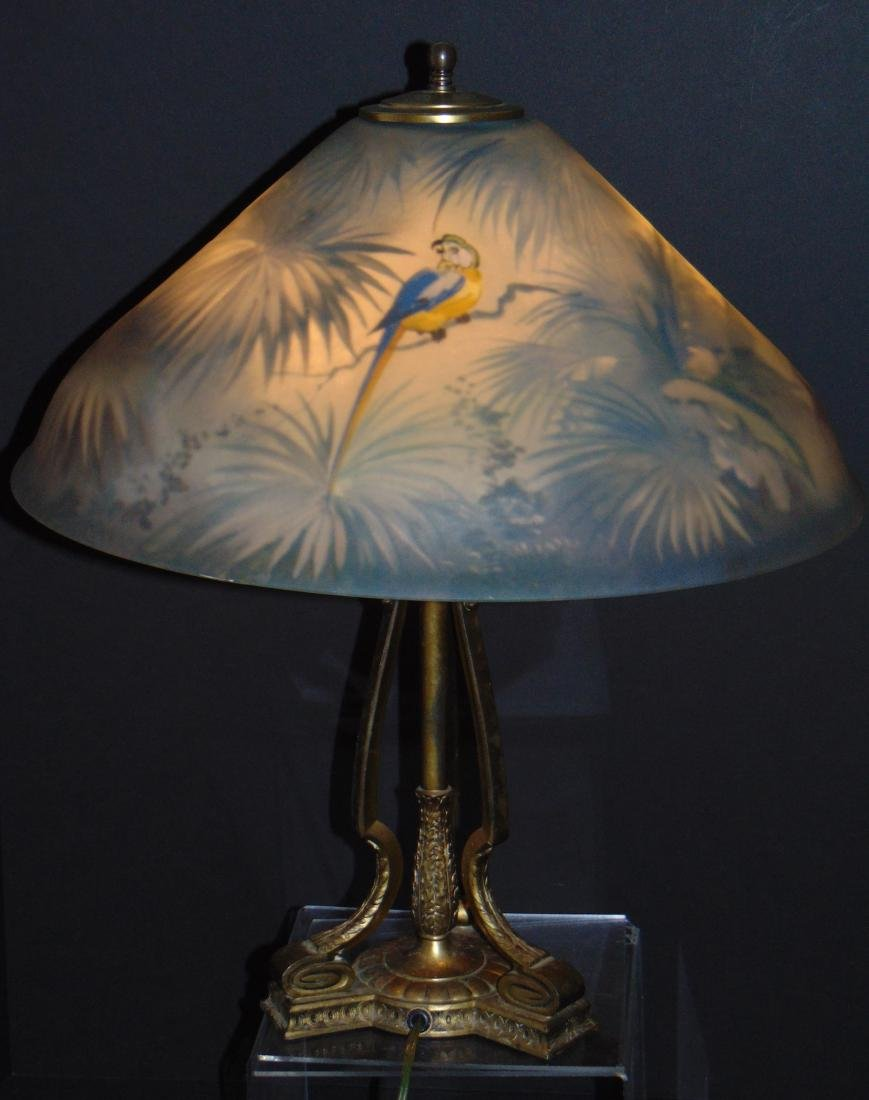 Pairpoint Jungle bird table lamp - 2