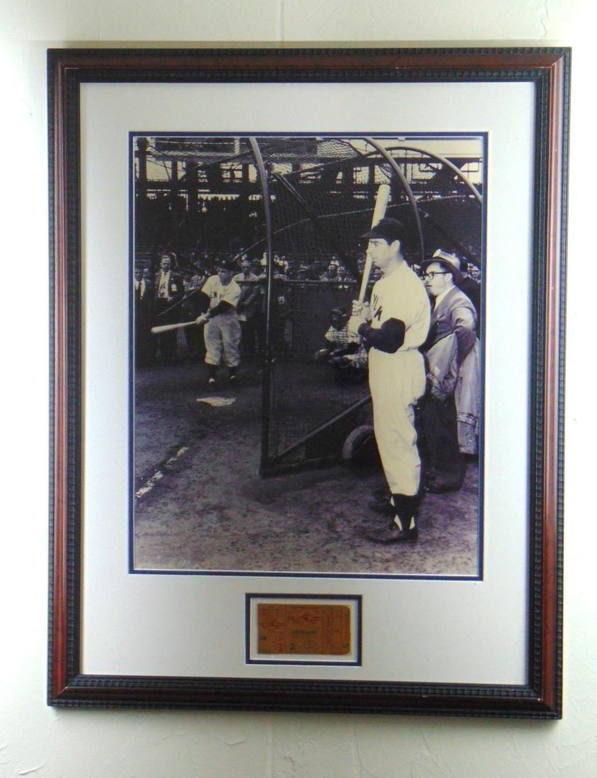 Joe DiMaggio signed framed picture