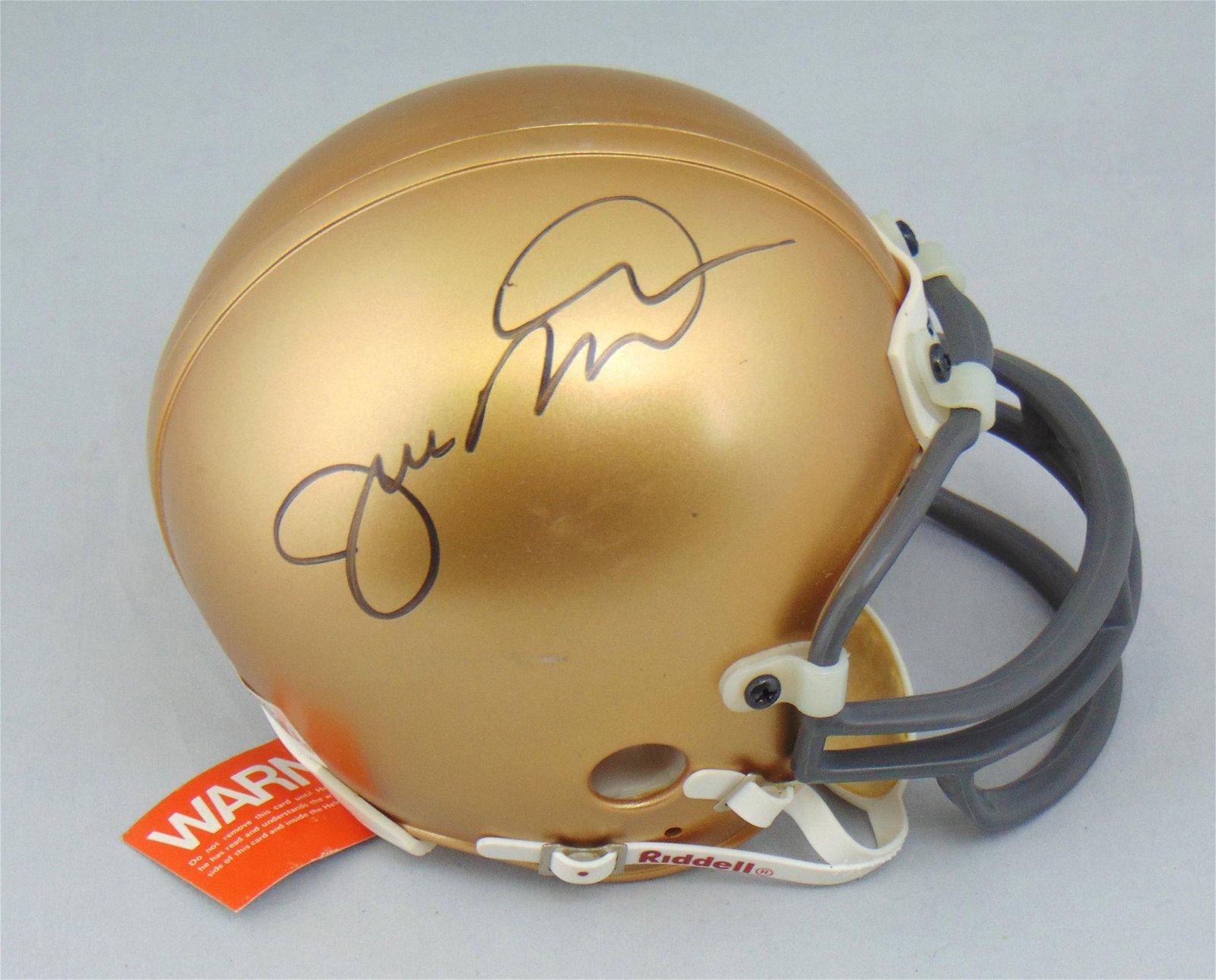 Joe Montana mini helmet