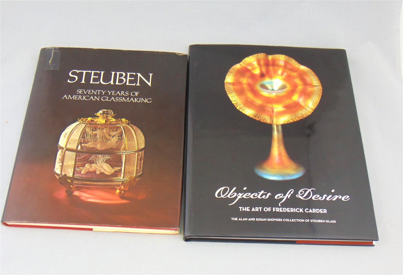 Four books and booklets on Steuben