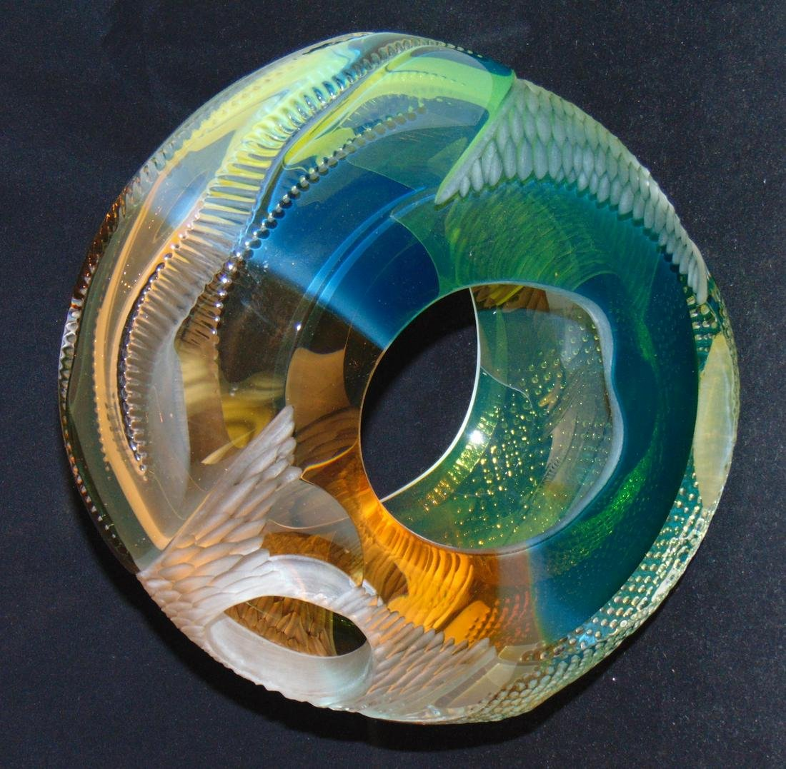 Leon Applebaum art glass wheel