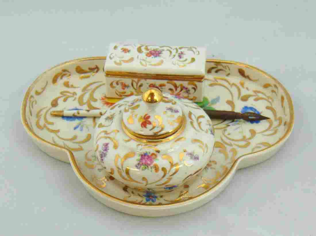 Limoges porcelain dresser set