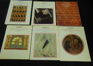 Six early Sotheby's catalogs