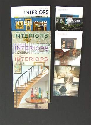"10 Christies ""Interiors"" catalogs"