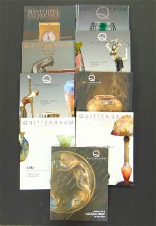 Group of 9 Quittenbaum catalogs
