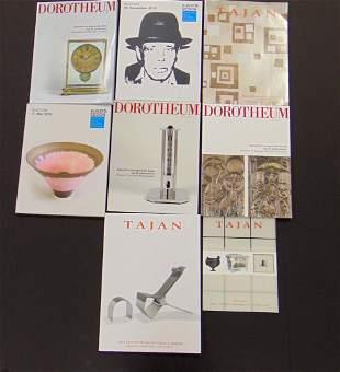 Group of 9 European catalogs