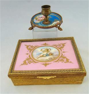 Two vintage porcelain items