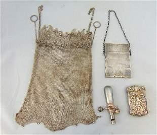 Four metal vanity items