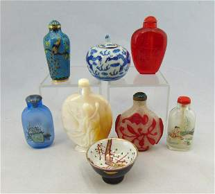 Group of eight oriental items